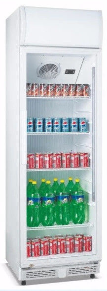 310L Upright Single Door Beverage Cooler Refrigerator For Cold Storage,No Frost Commercial Fridge