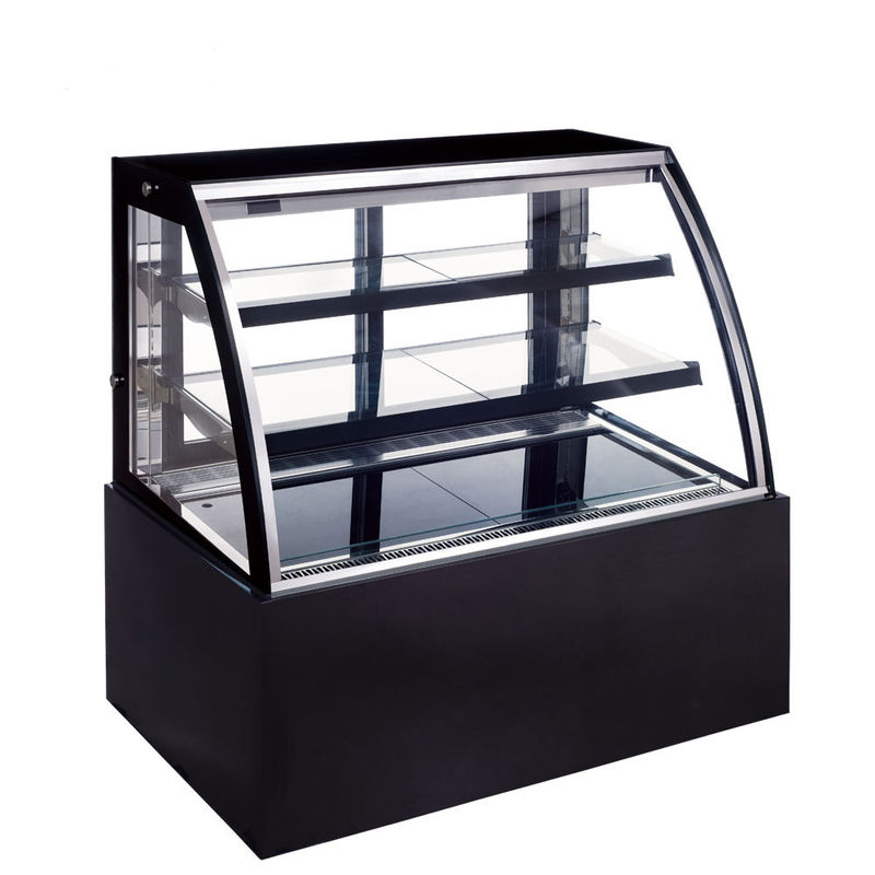 Auto Defrost Refrigerated Cake Showcase , 290L Commercial Cake Fridge with 900mm Length