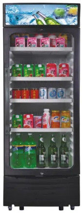 350L Upright Display Fridge , Auto Defrost Refrigerated Display Cooler