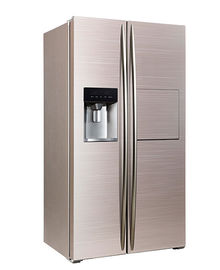 चीन 598L Side By Side Refrigerator Freezer Super Freezing CE Approval With Ice Maker And Home Bar फैक्टरी